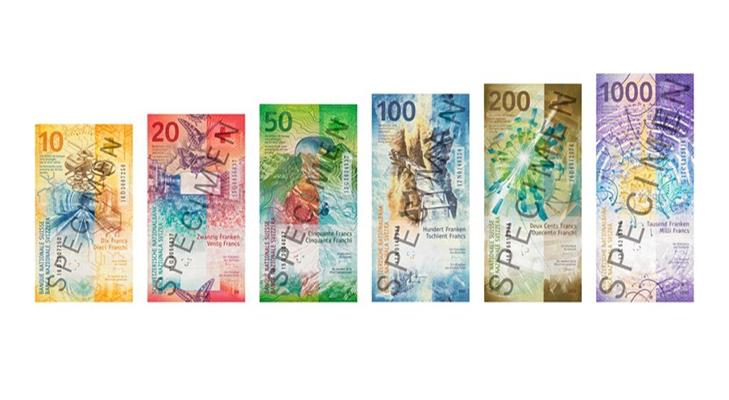 Швейцарские франки с надписью