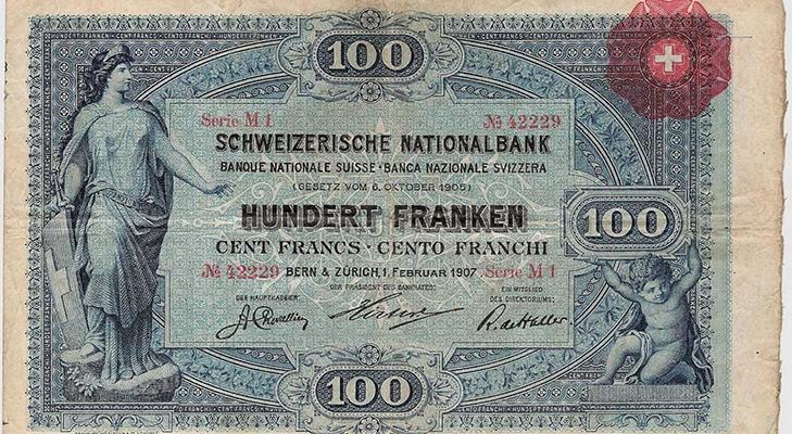 100 франков 1907 года