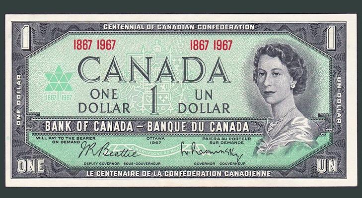 Канадский доллар 1967 года