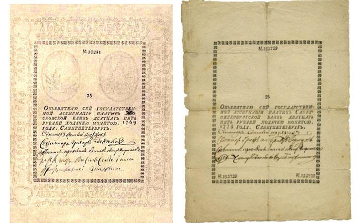 Бумажные деньги царской России