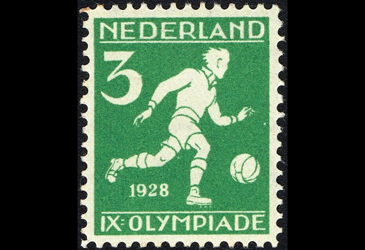 Футбольная марка, Нидерланды, 1928 г.